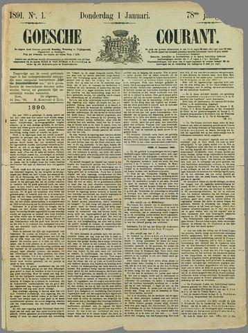 Goessche Courant 1891-01-01