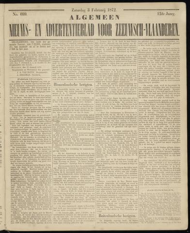 Ter Neuzensche Courant. Algemeen Nieuws- en Advertentieblad voor Zeeuwsch-Vlaanderen / Neuzensche Courant ... (idem) / (Algemeen) nieuws en advertentieblad voor Zeeuwsch-Vlaanderen 1872-02-03