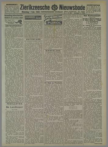 Zierikzeesche Nieuwsbode 1932-02-01