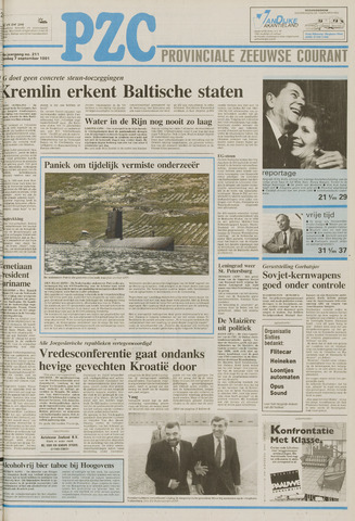 Provinciale Zeeuwse Courant 1991-09-07