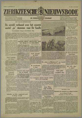 Zierikzeesche Nieuwsbode 1958-09-30