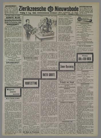 Zierikzeesche Nieuwsbode 1932-08-05