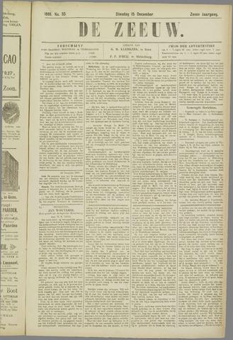 De Zeeuw. Christelijk-historisch nieuwsblad voor Zeeland 1891-12-15