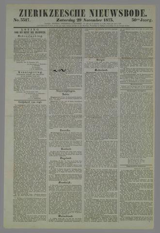 Zierikzeesche Nieuwsbode 1873-11-29