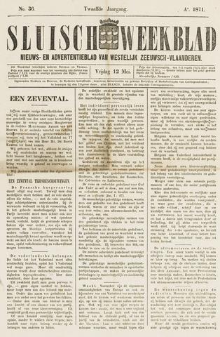 Sluisch Weekblad. Nieuws- en advertentieblad voor Westelijk Zeeuwsch-Vlaanderen 1871-05-12