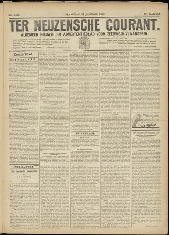 Ter Neuzensche Courant. Algemeen Nieuws- en Advertentieblad voor Zeeuwsch-Vlaanderen / Neuzensche Courant ... (idem) / (Algemeen) nieuws en advertentieblad voor Zeeuwsch-Vlaanderen 1930-01-27