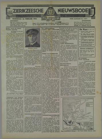 Zierikzeesche Nieuwsbode 1941-02-26