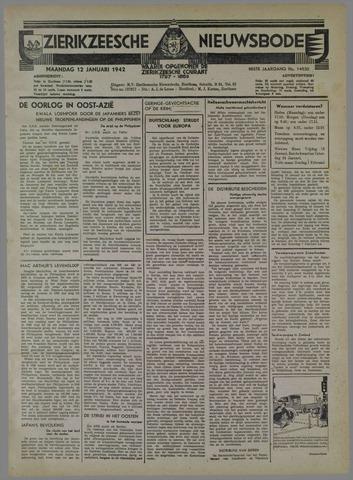 Zierikzeesche Nieuwsbode 1942-01-12