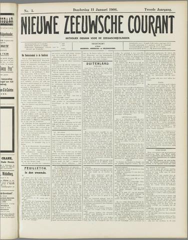 Nieuwe Zeeuwsche Courant 1906-01-11