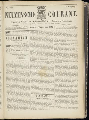 Ter Neuzensche Courant. Algemeen Nieuws- en Advertentieblad voor Zeeuwsch-Vlaanderen / Neuzensche Courant ... (idem) / (Algemeen) nieuws en advertentieblad voor Zeeuwsch-Vlaanderen 1876-09-09