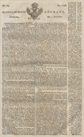 Middelburgsche Courant 1758-12-07