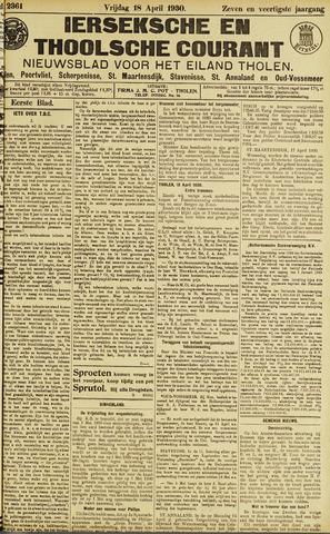 Ierseksche en Thoolsche Courant 1930-04-18