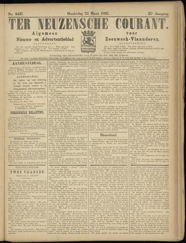 Ter Neuzensche Courant. Algemeen Nieuws- en Advertentieblad voor Zeeuwsch-Vlaanderen / Neuzensche Courant ... (idem) / (Algemeen) nieuws en advertentieblad voor Zeeuwsch-Vlaanderen 1897-03-25