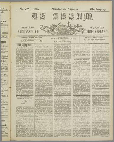 De Zeeuw. Christelijk-historisch nieuwsblad voor Zeeland 1910-08-22