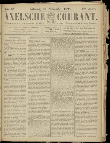 Axelsche Courant 1921-09-17