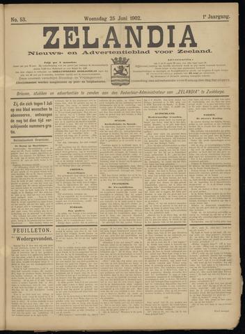 Zelandia. Nieuws-en advertentieblad voor Zeeland | edities: Het Land van Hulst en De Vier Ambachten 1902-06-25