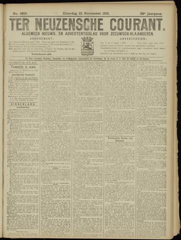 Ter Neuzensche Courant. Algemeen Nieuws- en Advertentieblad voor Zeeuwsch-Vlaanderen / Neuzensche Courant ... (idem) / (Algemeen) nieuws en advertentieblad voor Zeeuwsch-Vlaanderen 1919-11-22