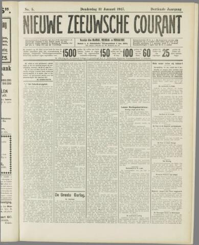 Nieuwe Zeeuwsche Courant 1917-01-11