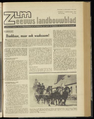 Zeeuwsch landbouwblad ... ZLM land- en tuinbouwblad 1962-09-07