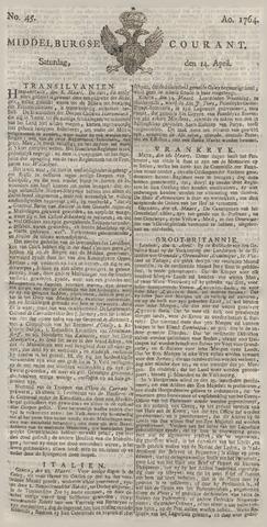 Middelburgsche Courant 1764-04-14