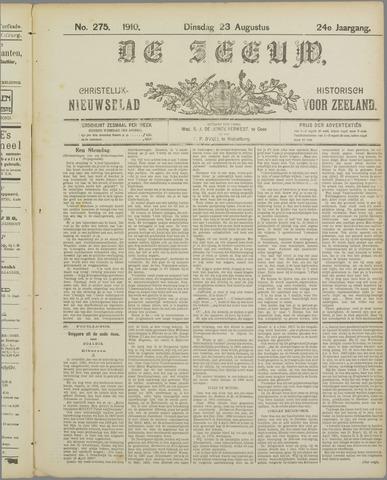 De Zeeuw. Christelijk-historisch nieuwsblad voor Zeeland 1910-08-23