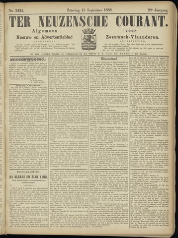 Ter Neuzensche Courant. Algemeen Nieuws- en Advertentieblad voor Zeeuwsch-Vlaanderen / Neuzensche Courant ... (idem) / (Algemeen) nieuws en advertentieblad voor Zeeuwsch-Vlaanderen 1888-09-15