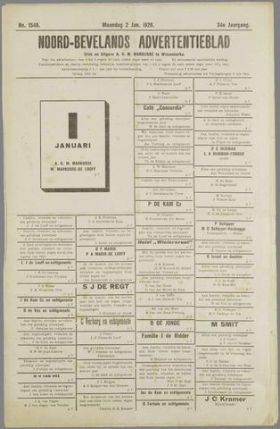 Noord-Bevelands Nieuws- en advertentieblad 1928