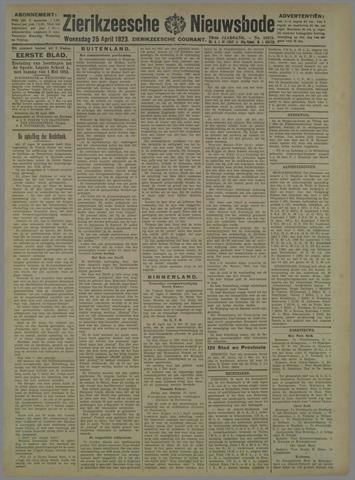 Zierikzeesche Nieuwsbode 1923-04-25