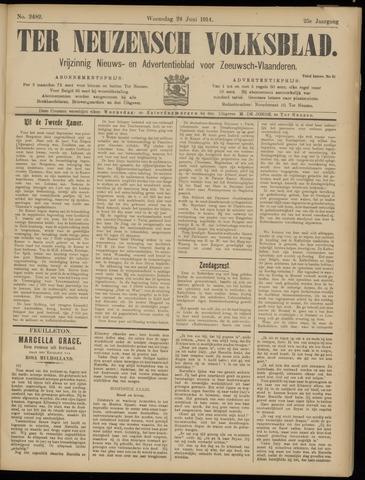 Ter Neuzensch Volksblad. Vrijzinnig nieuws- en advertentieblad voor Zeeuwsch- Vlaanderen / Zeeuwsch Nieuwsblad. Nieuws- en advertentieblad voor Zeeland 1914-06-24
