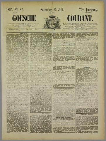 Goessche Courant 1885-07-25