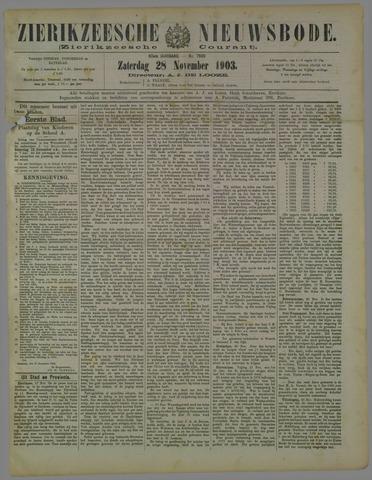 Zierikzeesche Nieuwsbode 1903-11-28