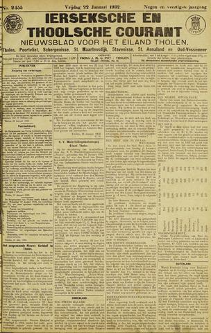 Ierseksche en Thoolsche Courant 1932-01-22