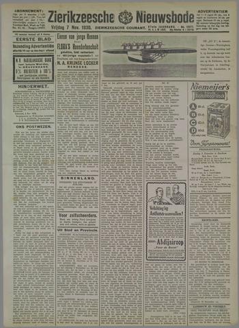 Zierikzeesche Nieuwsbode 1930-11-07
