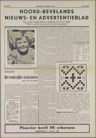 Noord-Bevelands Nieuws- en advertentieblad 1974-09-19