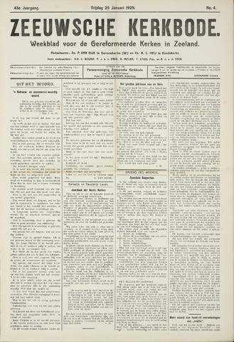 Zeeuwsche kerkbode, weekblad gewijd aan de belangen der gereformeerde kerken/ Zeeuwsch kerkblad 1929-01-25