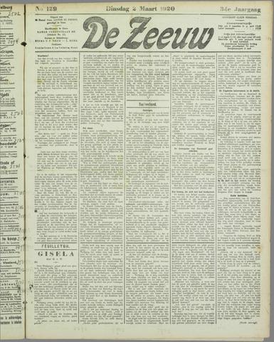 De Zeeuw. Christelijk-historisch nieuwsblad voor Zeeland 1920-03-02