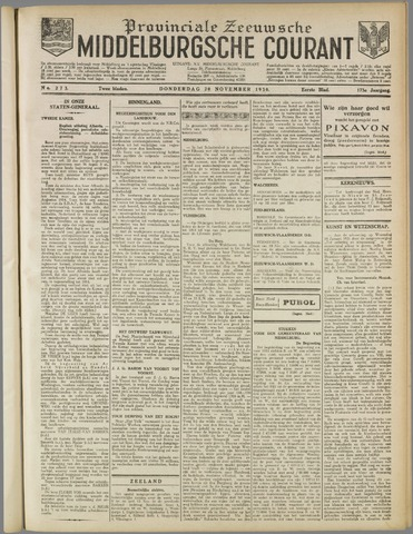 Middelburgsche Courant 1930-11-20