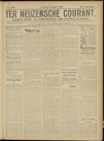 Ter Neuzensche Courant. Algemeen Nieuws- en Advertentieblad voor Zeeuwsch-Vlaanderen / Neuzensche Courant ... (idem) / (Algemeen) nieuws en advertentieblad voor Zeeuwsch-Vlaanderen 1926-03-26