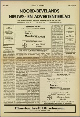 Noord-Bevelands Nieuws- en advertentieblad 1958-05-24