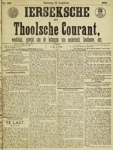 Ierseksche en Thoolsche Courant 1891-08-15
