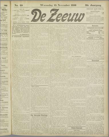 De Zeeuw. Christelijk-historisch nieuwsblad voor Zeeland 1916-11-15