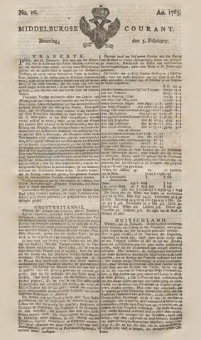 Middelburgsche Courant 1763-02-05
