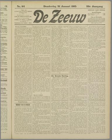 De Zeeuw. Christelijk-historisch nieuwsblad voor Zeeland 1915-01-21