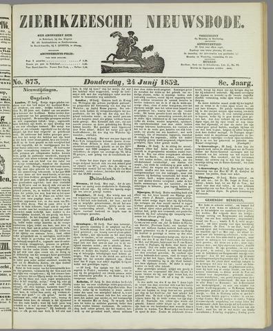 Zierikzeesche Nieuwsbode 1852-06-24