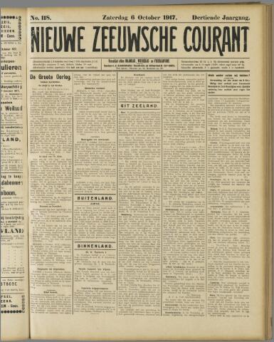 Nieuwe Zeeuwsche Courant 1917-10-06