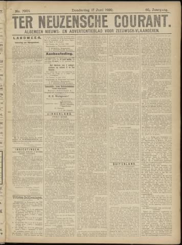 Ter Neuzensche Courant. Algemeen Nieuws- en Advertentieblad voor Zeeuwsch-Vlaanderen / Neuzensche Courant ... (idem) / (Algemeen) nieuws en advertentieblad voor Zeeuwsch-Vlaanderen 1920-06-17