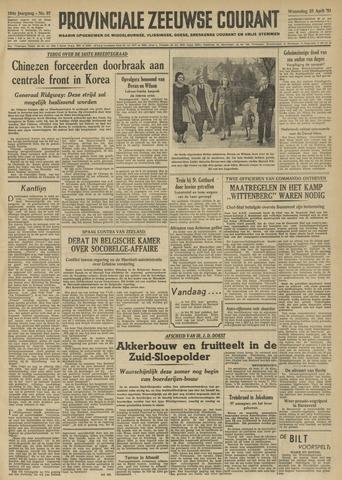 Provinciale Zeeuwse Courant 1951-04-25