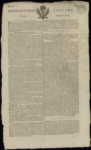 Middelburgsche Courant 1814-10-29