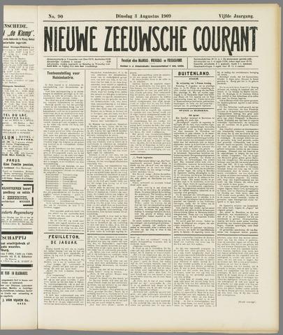 Nieuwe Zeeuwsche Courant 1909-08-03