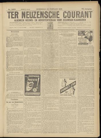 Ter Neuzensche Courant. Algemeen Nieuws- en Advertentieblad voor Zeeuwsch-Vlaanderen / Neuzensche Courant ... (idem) / (Algemeen) nieuws en advertentieblad voor Zeeuwsch-Vlaanderen 1935-02-20